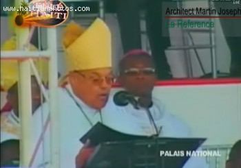 Michel Martell Inauguration - Archbishop Louis Kbreau Of Cap-Hatien Presided