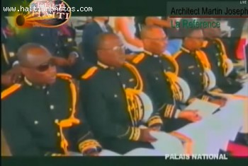 National Police Attending Inauguration Of Michel Martelly