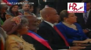 Michel Martelly Sophia Martelly, President Rene Preval, Elizabeth Debrosse Delatour