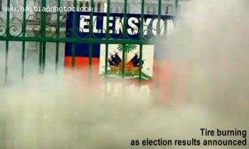 Haiti Burning After 2010 Election Results Announced