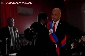 The Inaugurationof Martelly In Blackout