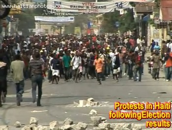 Protest Following Haiti Election Results
