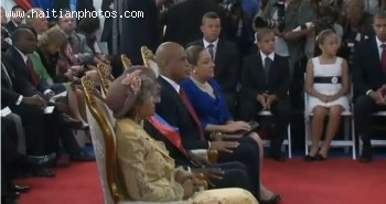 Michel Martelly And Wife Sofia, Rene Preval And Wife Elizabeth Debrosse Delatour