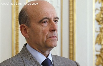 Alain Marie Juppe, France Minister of Foreign and European Affairs- visits Haiti