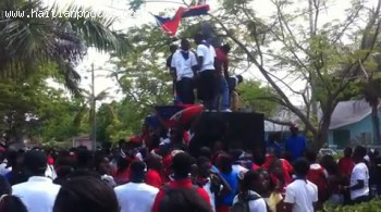 Haitian Flag Celebration In Little Haiti