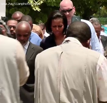 Michelle Obama And Rene Preval