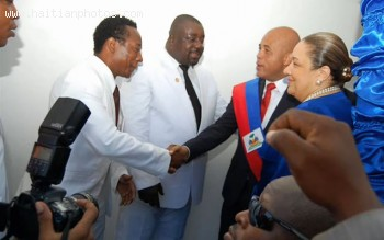 Michel Martelly And Gracia Delva