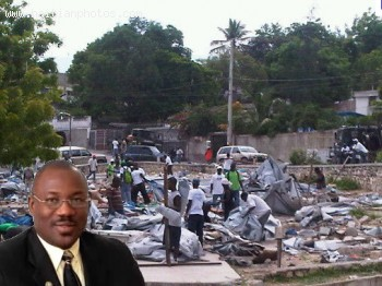 Haitian national Police destroyed Tents in Delma on order by Wilson Jeudy