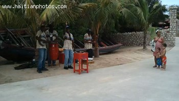 A Haitian Twoubadou Band Playing In Labadee Resort In Cap-Haitian