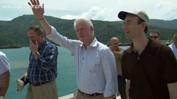 Bill Clinton Arriving At Labadee Haiti