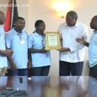 Friends of Haiti in Antigua and Barbuda recognizing Prime Minister Baldwin Spencer
