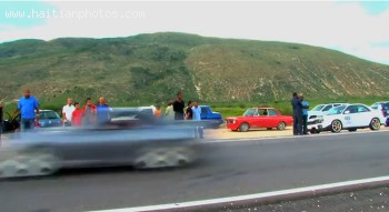Car Drag street racing in Morne Cabrite in Haiti