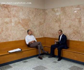 Barack Obama and DNC Executive Patrick Gaspard