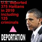 deported 375 Haitians year