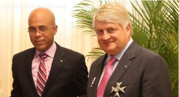 President Michel Martelly Digicel's Chairman Denis O'Brien