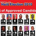 List Of Confirmed Candidates For The 2010 Haiti Election