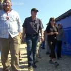 Sarah Palin Walking With Rev. Franklin Graham Between Tents In Haiti
