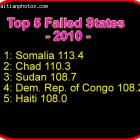 Haiti top five failed states 2010