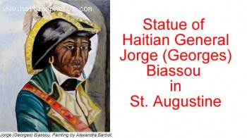 Statue of Jorge (Georges) Biassou in  St. Augustine