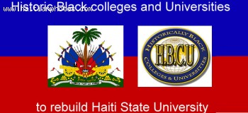 Black colleges and Universities to help Haiti State University rebuild