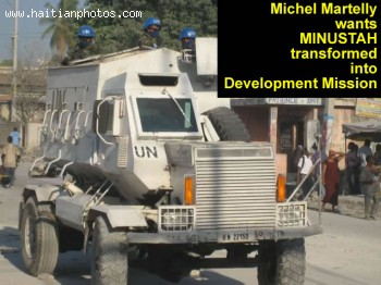 Michel Martelly wants MINUSTAH transformed to development mission