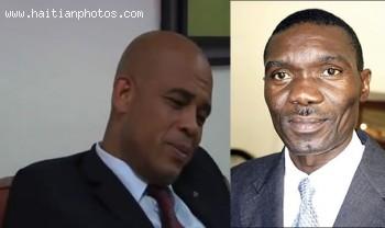 Michel Martelly met Senator Joseph Lambert