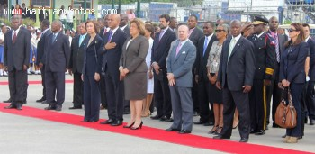 The Queen Doña Sofía of Spain visits Haiti