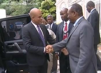 Former Haitian President General Prosper Avril and Michel Martelly