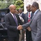 Former Haitian President General Prosper Avril and Michel Martelly