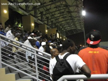 Soccer fans in Park Manno Sanon Supporting Haiti National Team