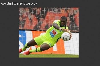 Haitian goalkeeper Johnny Placide