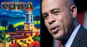 President of Haiti Michel Martelly in Visit to Cuba and Castro
