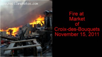 Fire in the marche of Croix-des-Bouquets