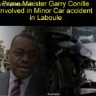 Prime Minister Garry Conille in minor Car accident in Laboule, Haiti