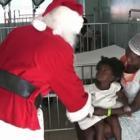 Santa Providing Gift Christmas Gifts