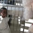 Santa Bringing Joy To Haitian Children During Christmas
