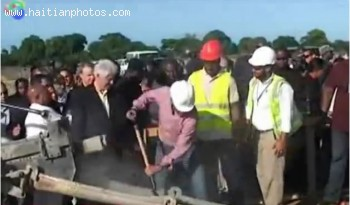 The unveiling of the Caracol Industrial Park in the Northern part of Haiti