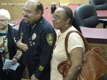 Teacher Carline And First Haitian-American Chief Of Police In North Miami, Mark Elias