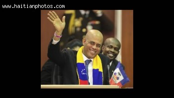 President Michel Martelly in Caracas, Venezuela for First CELAC Summit