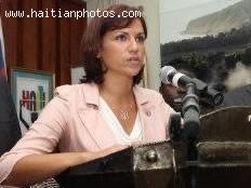 Haitian Minister of Tourism, Stéphanie Balmir Villedrouin in Jacmel with Venezuelan Investors