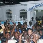 Jean-Claude Duvalier at Robert Blanc Law school in Gonaives