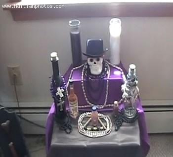 Haiti Voodoo Baron Samedi Altar