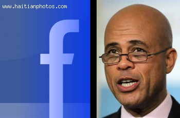 Haitian President Michel Martelly deleted Facebook comments about corruption