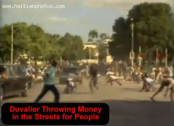 Francois Duvalier - Throwing Money On The Streets To The Crowd
