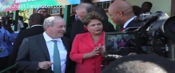 Brazilian President Dilma Rousseff visit to Haiti