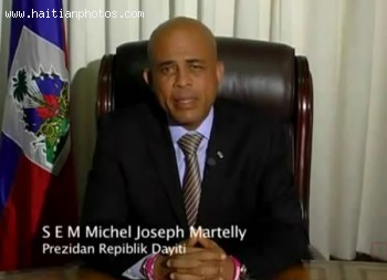 Martelly's message following the resignation of Prime Minister Garry Conille