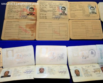 President Michel Martelly Put On Display Several Haitian Passports