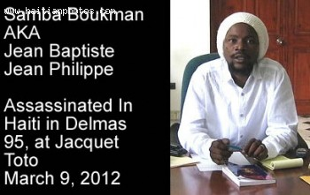 Samba Boukman AKA Jean Baptiste Jean Philippe killed in Delmas 95
