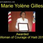 Marie Yolene Gilles awarded Woman