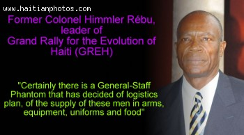 Himmler Rebu, the Grand Rally for the Evolution of Haiti, GREH